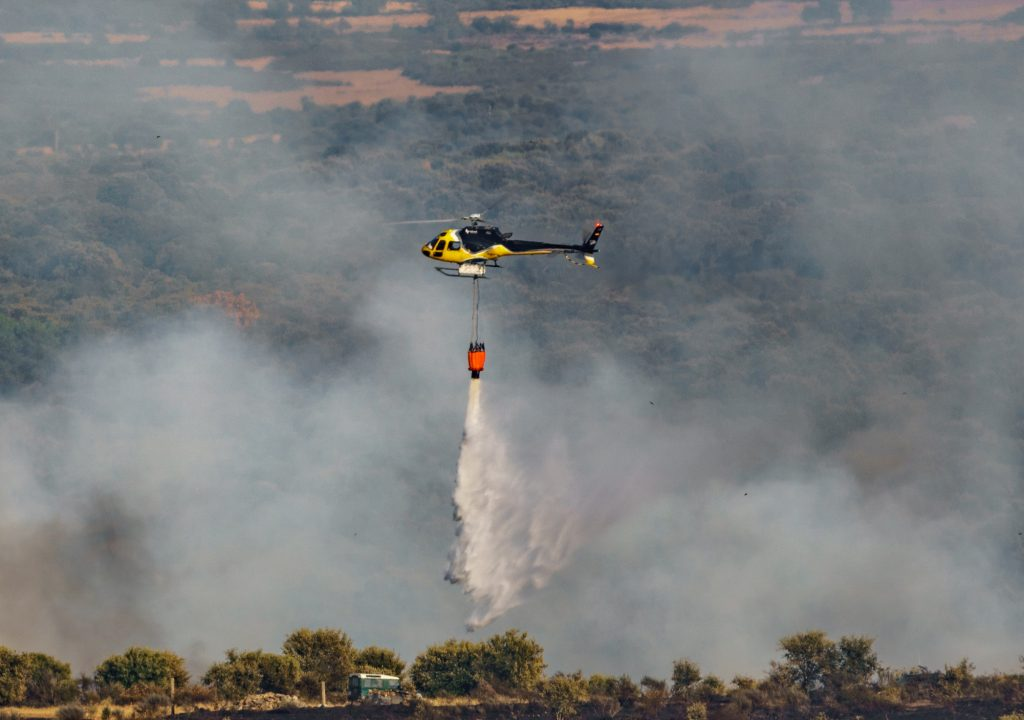 Helicopters could bring new technologies to fighting brushfires
